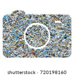 collage of travel photos  ... | Shutterstock . vector #720198160