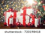 christmas  holidays  presents ... | Shutterstock . vector #720198418