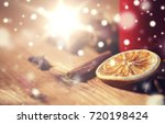 christmas  holidays  cooking... | Shutterstock . vector #720198424