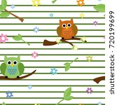 cute seamless tiling vector... | Shutterstock .eps vector #720199699