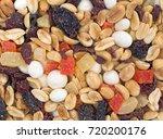 top close view of yogurt...   Shutterstock . vector #720200176