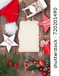 christmas composition with... | Shutterstock . vector #720201490