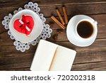 cozy holiday. mug coffee ... | Shutterstock . vector #720202318
