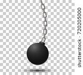 wrecking ball. demolition... | Shutterstock .eps vector #720205000