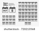 simple calendar set. numbers...