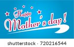 happy mother's day  beautiful... | Shutterstock .eps vector #720216544
