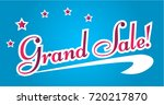 grand sale  beautiful greeting... | Shutterstock .eps vector #720217870