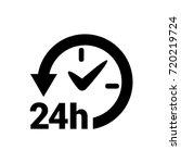 24 hours active icon | Shutterstock .eps vector #720219724