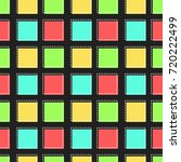 flat line square pattern vector  | Shutterstock .eps vector #720222499