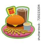 best deal   a plate of fries...   Shutterstock .eps vector #720223204