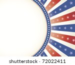 patriotic red white blue star... | Shutterstock .eps vector #72022411