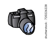 cartoon of photographic camera | Shutterstock .eps vector #720226228