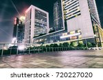 the cityscape  at night of china | Shutterstock . vector #720227020