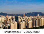 the cityscape  at night of china | Shutterstock . vector #720227080