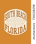 south beach stamp sea... | Shutterstock .eps vector #720228298
