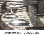 dinner plates | Shutterstock . vector #720229108