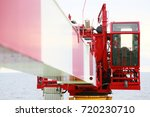 crane under maintenance routine ... | Shutterstock . vector #720230710