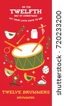 twelfth day of christmas from... | Shutterstock .eps vector #720233200