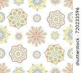 seamless tiling retro texture... | Shutterstock . vector #720233596