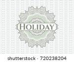 green passport money style... | Shutterstock .eps vector #720238204