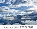 rain clouds and clouds with fog ... | Shutterstock . vector #720242209