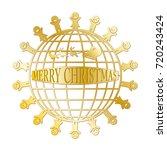 children and santa claus   Shutterstock .eps vector #720243424