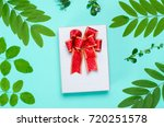 gift box on color background... | Shutterstock . vector #720251578