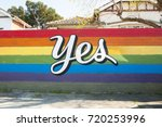 public sign for gay marriage... | Shutterstock . vector #720253996