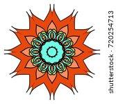 decorative flower mandala.... | Shutterstock .eps vector #720254713
