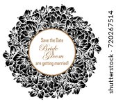 invitation with floral... | Shutterstock . vector #720267514