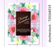 romantic invitation. wedding ... | Shutterstock .eps vector #720268519