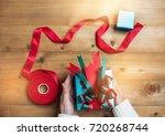 creative hobby. woman's hands... | Shutterstock . vector #720268744