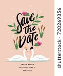 save the date invitation with... | Shutterstock .eps vector #720269356