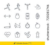 simple fitness icons   vectors... | Shutterstock .eps vector #720281746