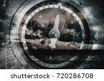 ship navigation multi exposure... | Shutterstock . vector #720286708