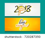 contemporary modern 2018 happy... | Shutterstock .eps vector #720287350