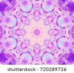 kaleidoscope pink flower.... | Shutterstock . vector #720289726