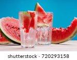 watermelon cocktail    Shutterstock . vector #720293158