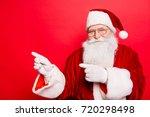 holly jolly x mas  noel ... | Shutterstock . vector #720298498