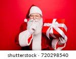 shh  keep secret. no sound mute ... | Shutterstock . vector #720298540