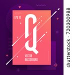 cool abstract alphabet poster... | Shutterstock .eps vector #720300988