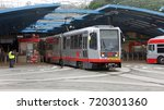 Small photo of San Francisco, CA - September 20, 2017: MUNI West Portal Station. Muni is a part of public transit in San Francisco, operating 365 days a year and connecting with regional transportation services.