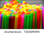 colorful drinking straws...   Shutterstock . vector #720309094