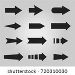 vector illustration of black... | Shutterstock .eps vector #720310030