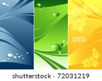 abstract vector nature banners... | Shutterstock .eps vector #72031219