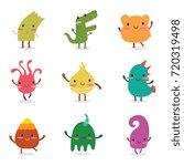 cute baby monster set | Shutterstock .eps vector #720319498