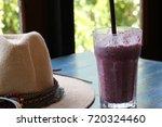 background berry beverage glass ... | Shutterstock . vector #720324460
