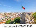 Lisbon Aerial View Cityscape...