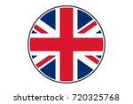 vector united kingdom round flag | Shutterstock .eps vector #720325768