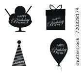 birthday vector logo design... | Shutterstock .eps vector #720328174
